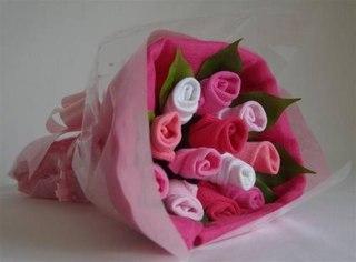 Мастер -классы букет из носочков, конфетка из полотенчика, бант и цветы